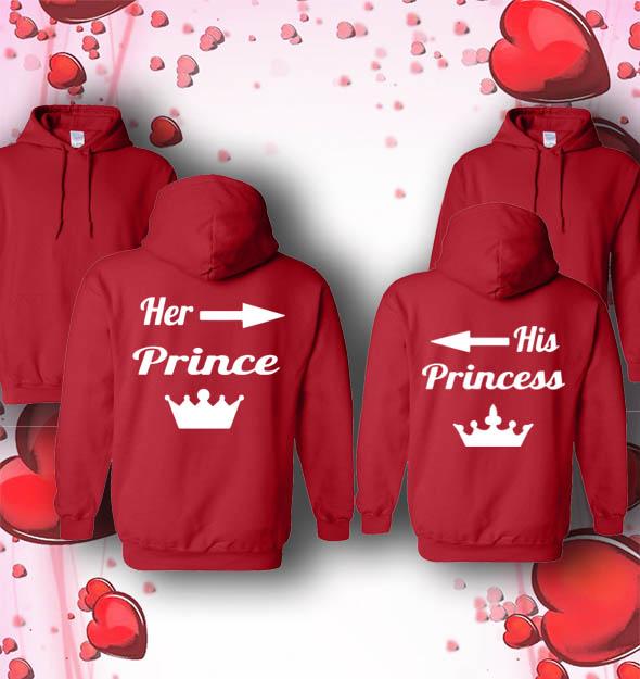 a5c8c8cc83b5 Her prince His princess sweatshirt Black Her prince His princess Hood Red  Her prince His princess jacket Black Her prince His princess Hood White ...