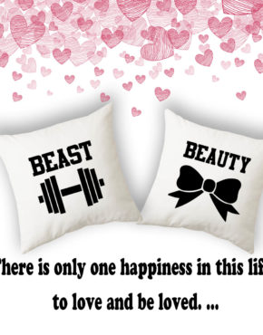 8114879531d9 Σετ μαξιλάρια Beast Beauti · Για ζευγάρια ερωτευμένους ...