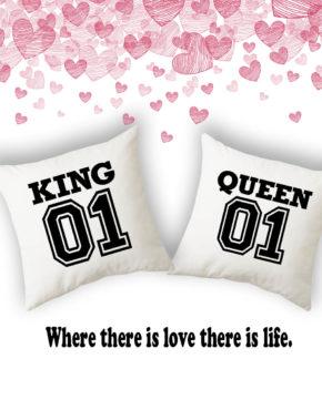 16f9c2b0a79b Σετ μαξιλάρια King Queen 01 fill · Για ζευγάρια ερωτευμένους ...